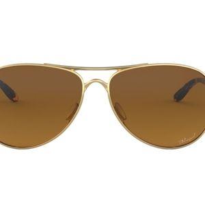 Oakley Gold Aviator Kid Sunglasses & Carry Case